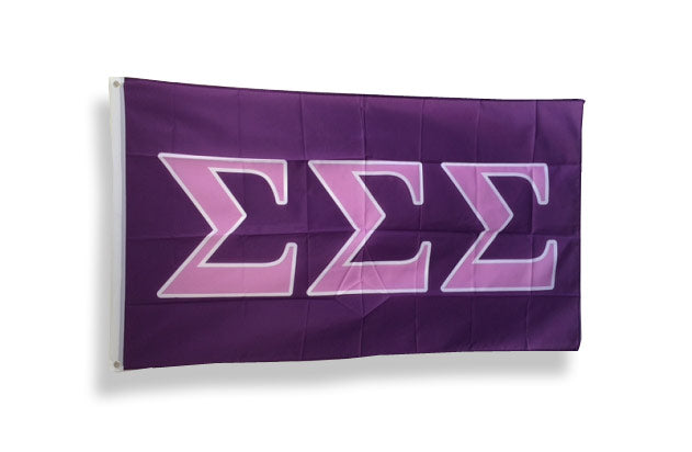 Sigma Sigma Sigma Big Flag