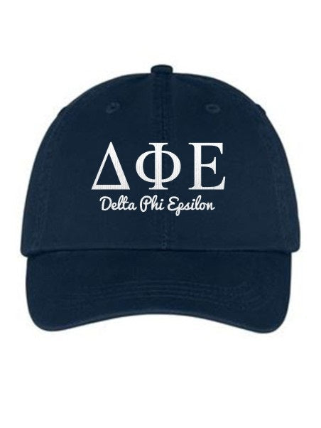 Delta Phi Epsilon Collegiate Curves Hat