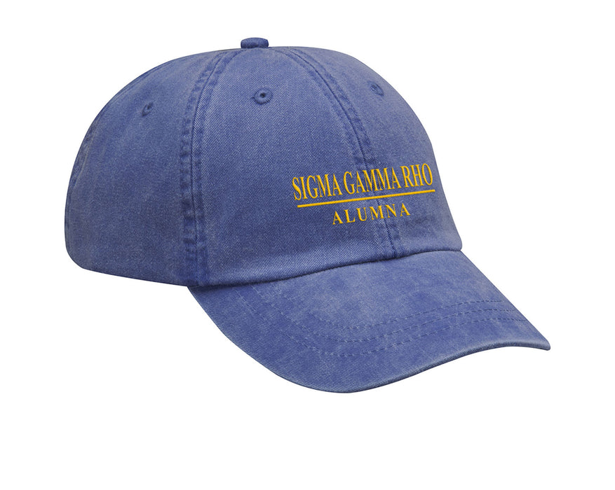Sigma Gamma Rho Line Year Embroidered Hat