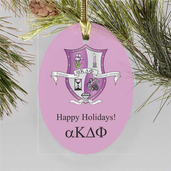 Alpha Kappa Delta Phi Color Crest Ornament