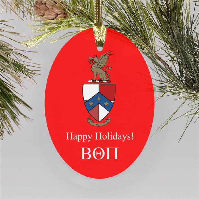 Beta Theta Pi Color Crest Ornament