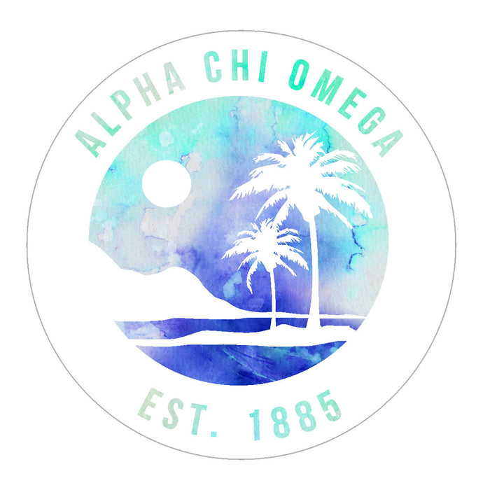Alpha Chi Omega Oasis Sticker