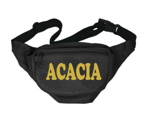 Acacia Fanny Pack Letters Layered Fanny Pack