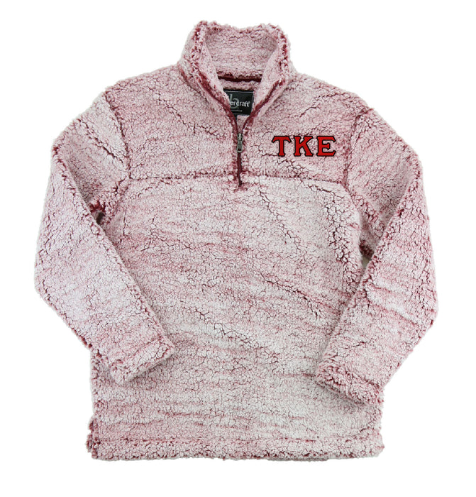 Tau Kappa Epsilon Embroidered Sherpa Quarter Zip Pullover