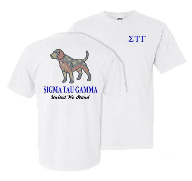 Sigma Tau Gamma Stand Tall Comfort Colors Heavy Tee