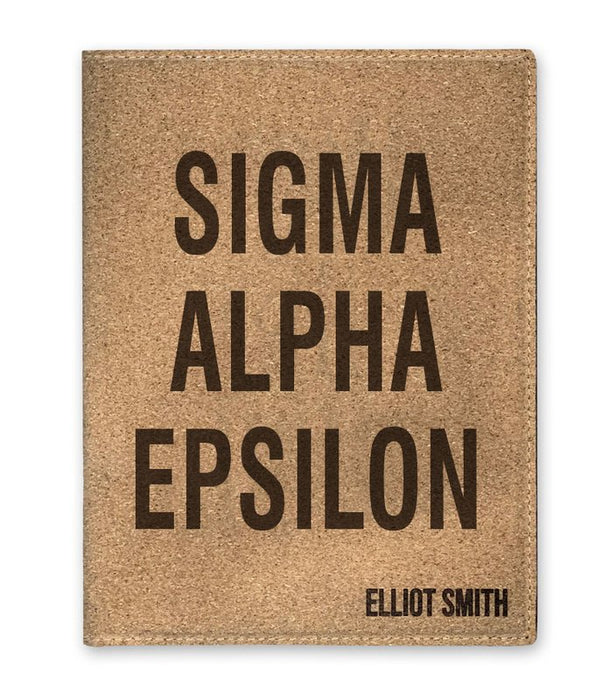 Sigma Alpha Epsilon Cork Portfolio with Notepad