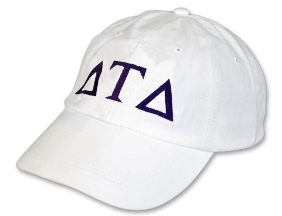 Delta Tau Delta Greek Letter Embroidered Hat