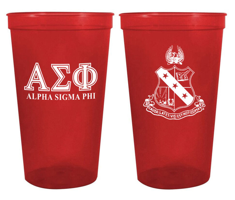 Alpha Sigma Phi Fraternity New Crest Stadium Cup