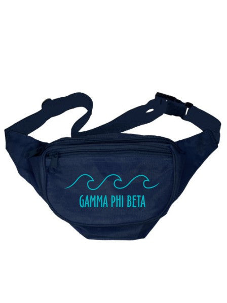 Gamma Phi Beta Wave Outline Fanny Pack