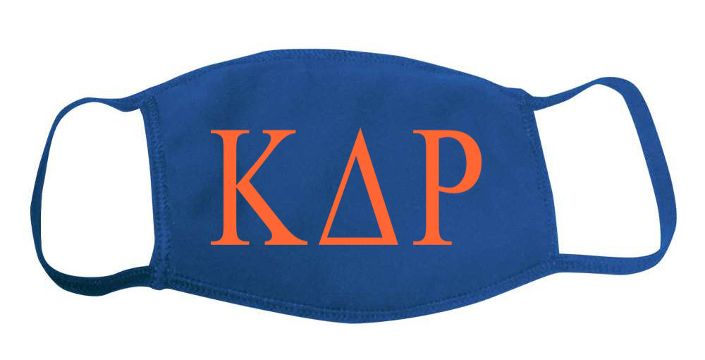 Kappa Delta Rho Face Mask With Big Greek Letters