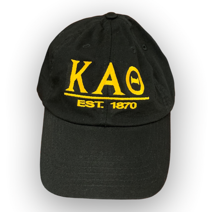 Kappa Alpha Theta Letters Year Embroidered Hat