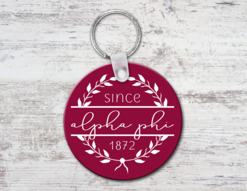 Alpha Phi Since Established Keyring