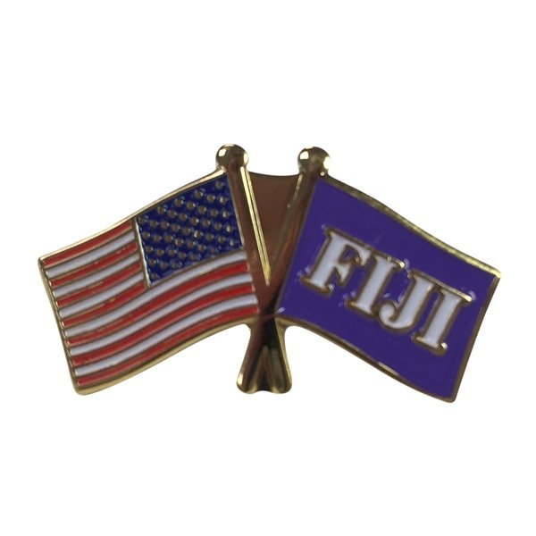 Fiji USA / Fraternity Flag Pin