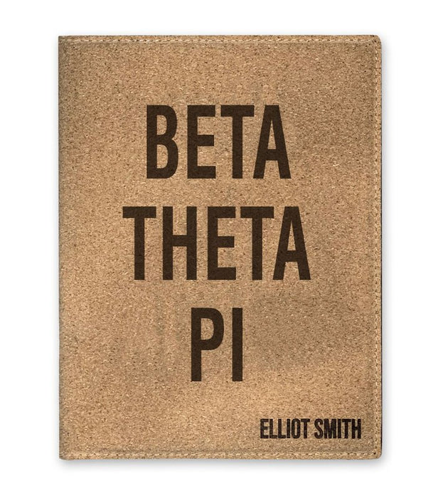 Beta Theta Pi Cork Portfolio with Notepad