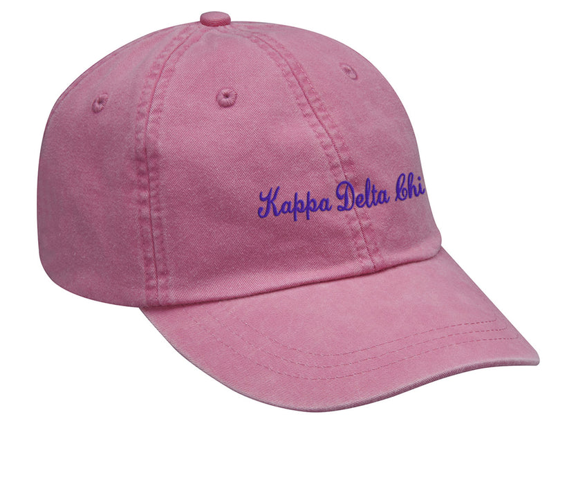 Kappa Delta Chi Cursive Embroidered Hat