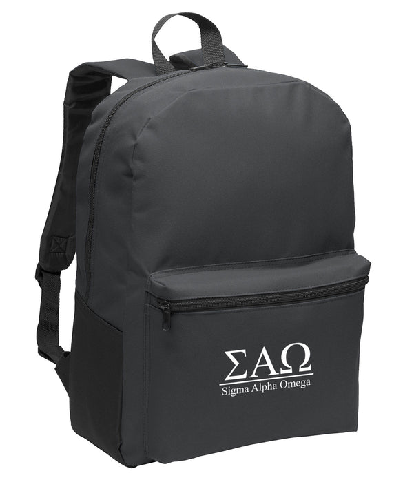 Sigma Alpha Omega Collegiate Embroidered Backpack