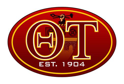 Theta Tau Color Oval Decal Color Oval Decal