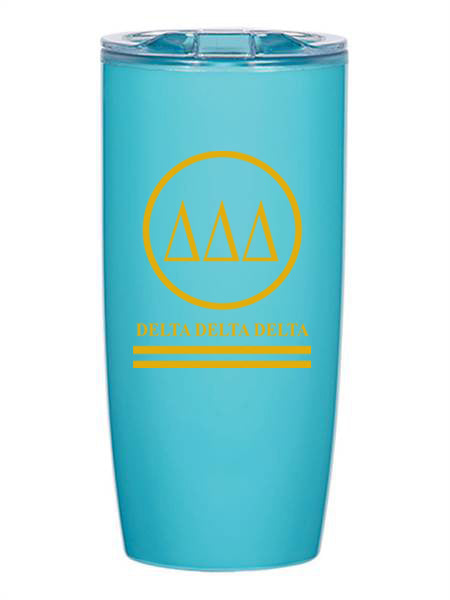 Delta Delta Delta Circle Stripes 19 oz Everest Tumbler
