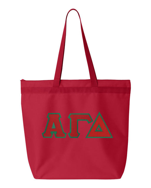 Alpha Gamma Delta Greek Lettered Game Day Tote