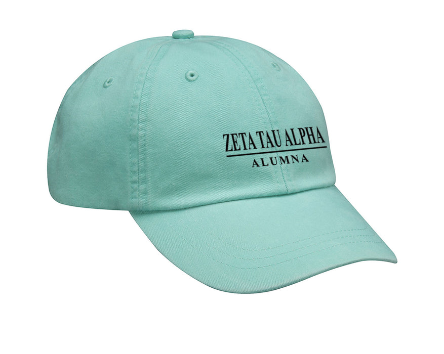 Zeta Tau Alpha Line Year Embroidered Hat