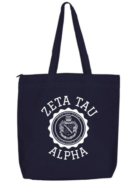 Zeta Tau Alpha Crest Seal Tote Bag