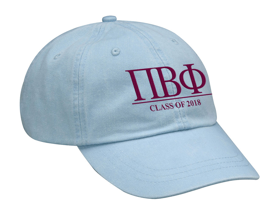 Pi Beta Phi Embroidered Hat with Custom Text