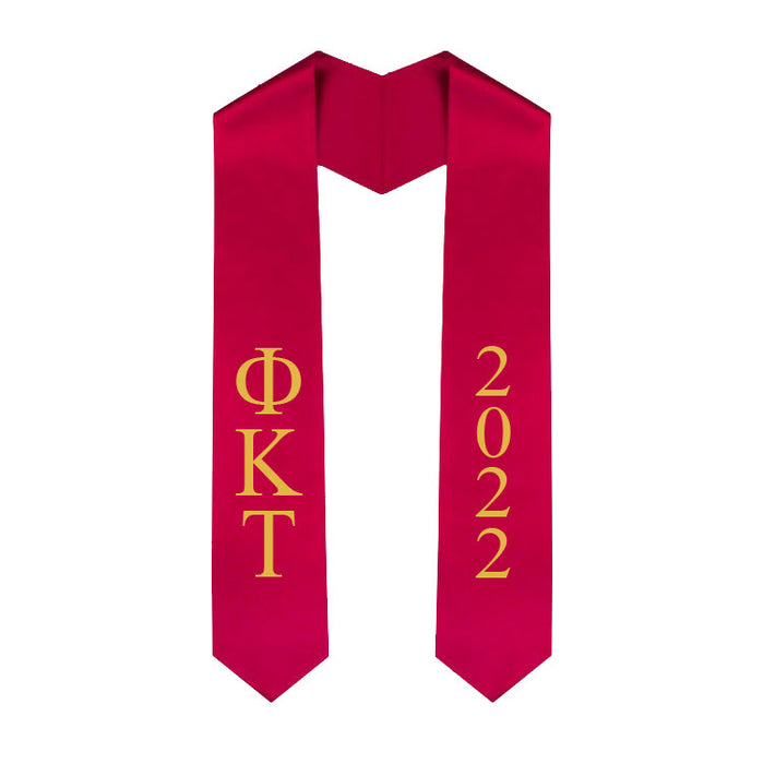 Phi Kappa Tau Vertical Grad Stole with Letters & Year