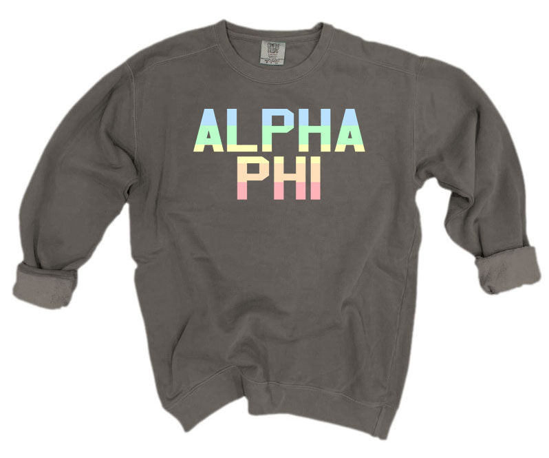 Alpha Phi Comfort Colors Pastel Sorority Sweatshirt
