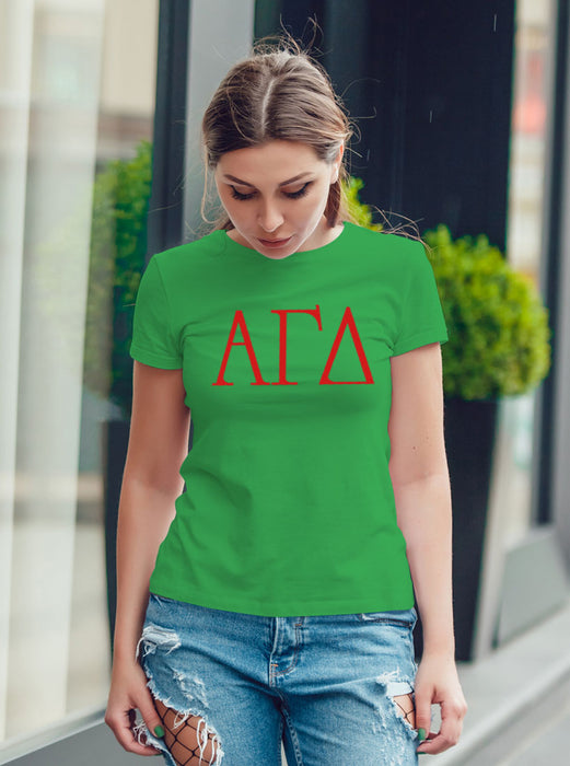 Alpha Gamma Delta University Letter T-Shirt