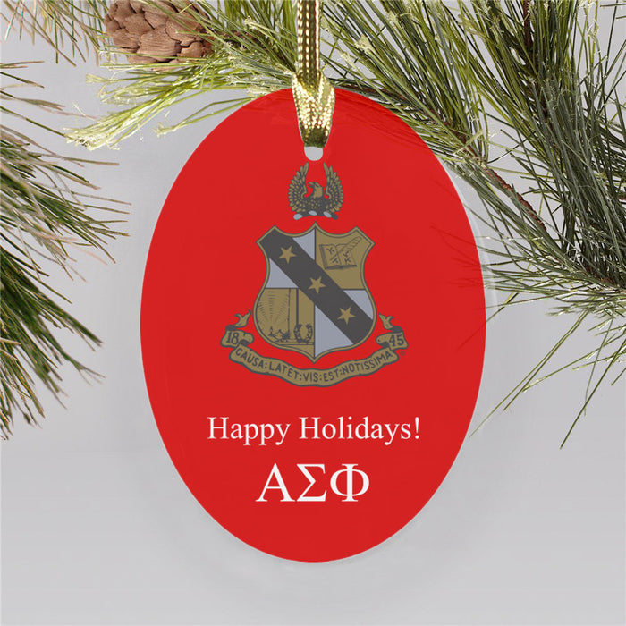 Alpha Sigma Phi Color Crest Ornament