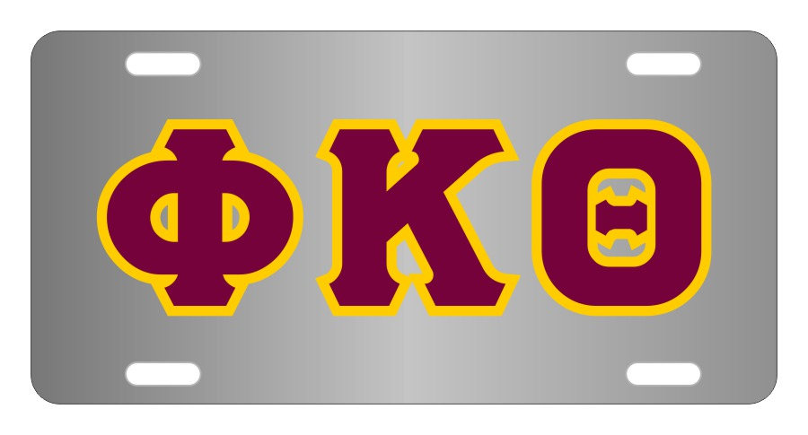 Phi Kappa Theta Fraternity License Plate Cover