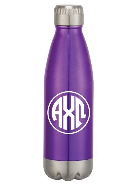 Alpha Chi Omega Monogram Swig Bottle