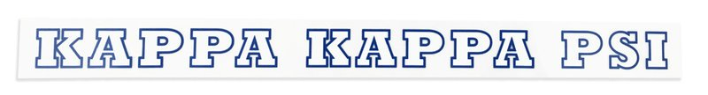 Kappa Kappa Psi Back Of The Window Long Sticker