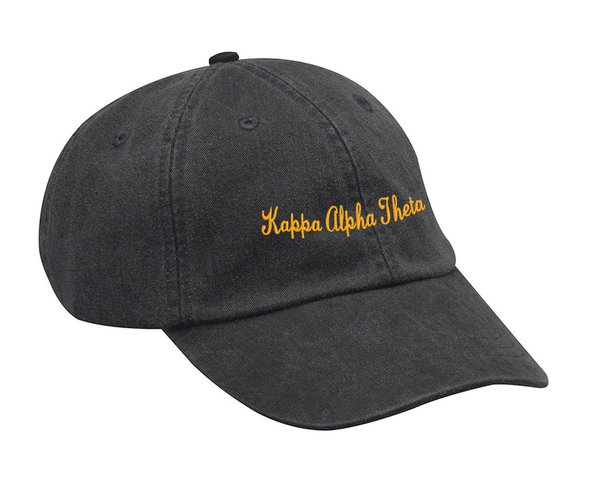 Kapap Alpha Theta Cursive Embroidered Hat