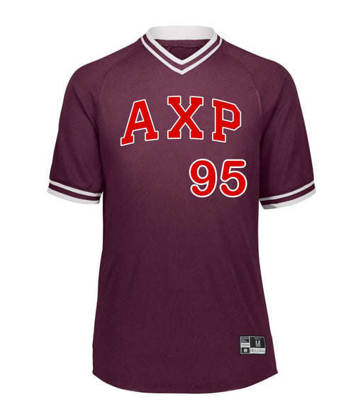 Alpha Chi Rho Retro V-Neck Baseball Jersey
