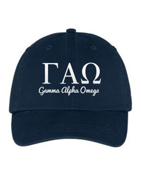 Gamma Alpha Omega Collegiate Curves Hat