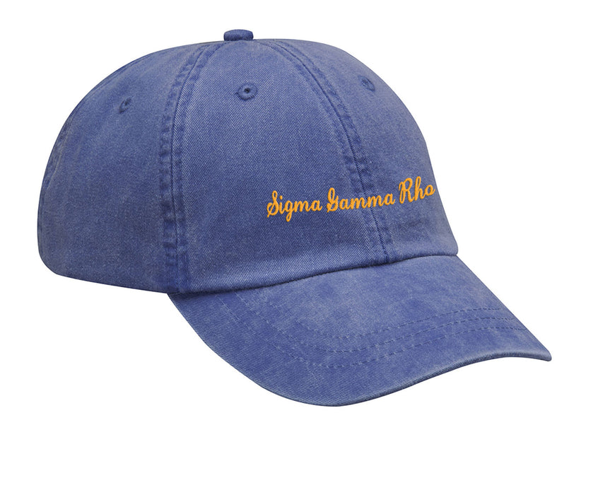 Sigma Gamma Rho Cursive Embroidered Hat