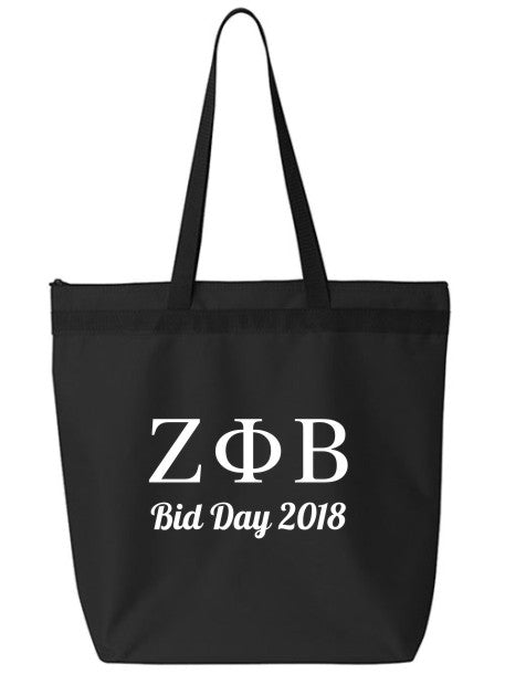 Zeta Phi Beta Roman Letters Event Tote Bag