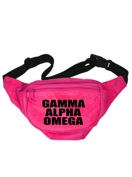 Gamma Alpha Omega Neon Fanny Pack