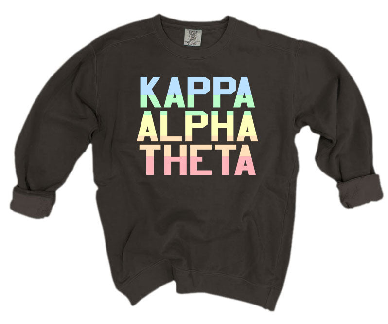 Kappa Alpha Theta Comfort Colors Pastel Sorority Sweatshirt
