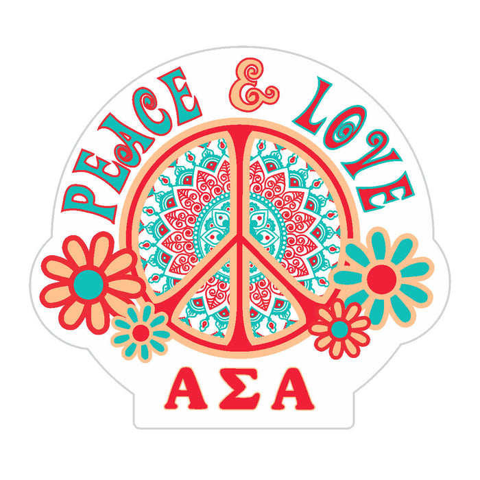 Alpha Sigma Alpha Peace Sticker