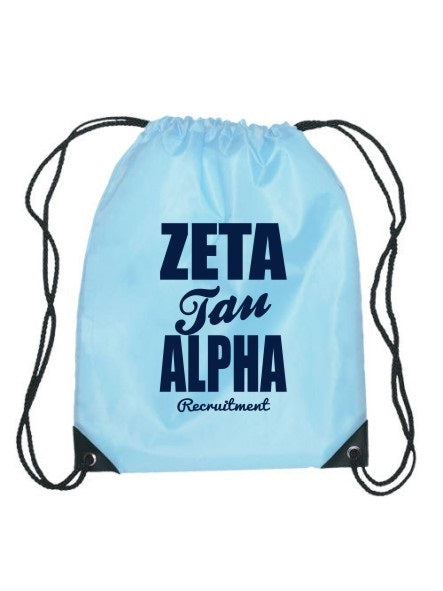 Zeta Tau Alpha Cursive Impact Sports Bag