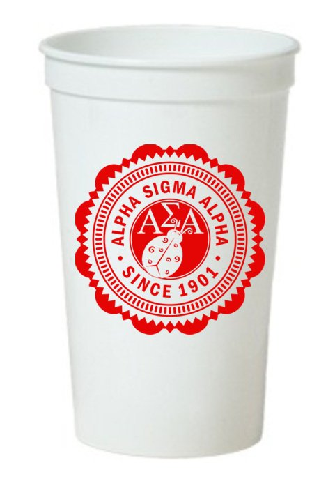 Alpha Sigma Alpha Classic Oldstyle Giant Plastic Cup
