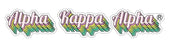Alpha Kappa Alpha New Hip Stepped Sticker