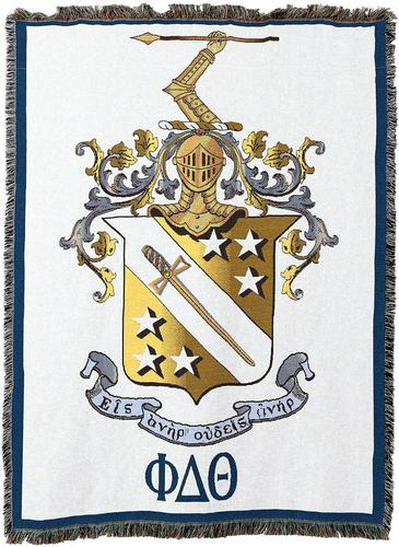 Phi Delta Theta Afghan Blanket Throw