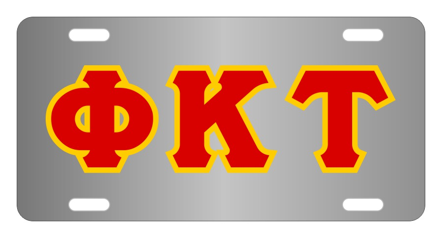 Phi Kappa Tau Fraternity License Plate Cover