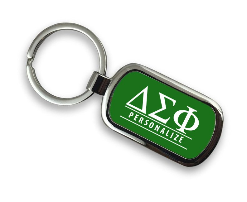 Delta Sigma Phi Chrome Key Chain
