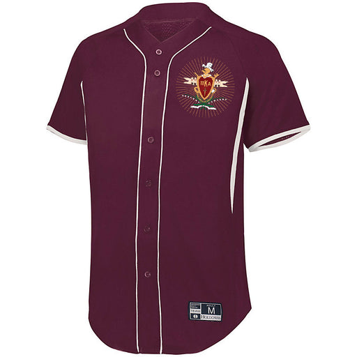Pi Kappa Alpha 7 Full Button Baseball Jersey
