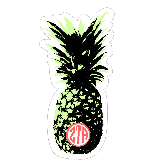 Zeta Tau Alpha Pineapple Sticker