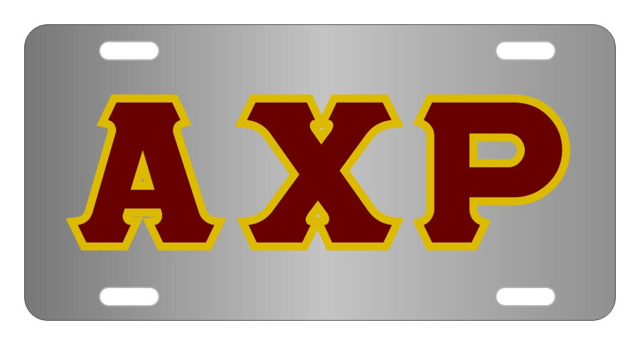 Alpha Chi Rho Fraternity License Plate Cover